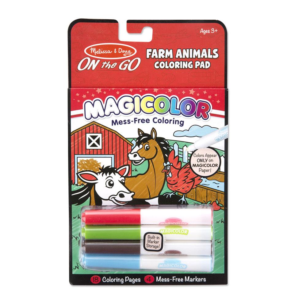Раскраска Magicolor Животные с фермы Melissa and Doug