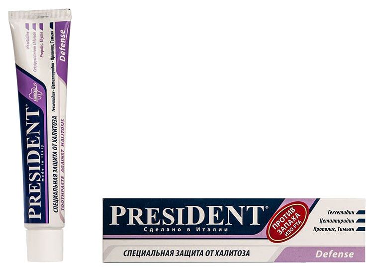 Купить Зубная паста President Exclusive Defense 50 мл