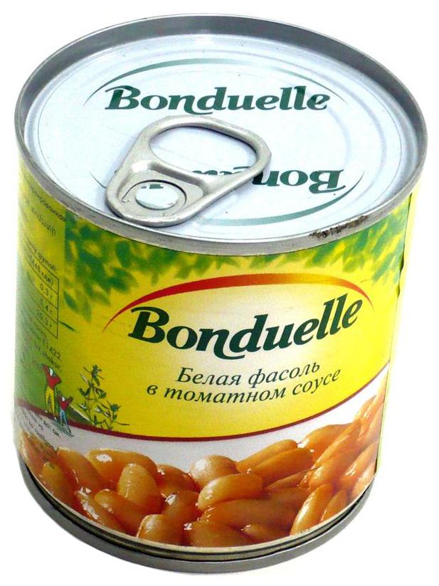 Фасоль Bonduelle белая в томатном соусе 430 г
