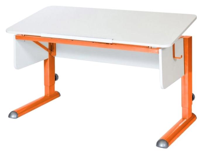 Парта Астек Моно 2 белый Оранжевый