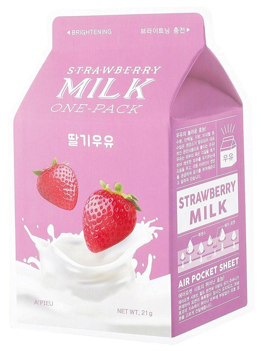 Купить Маска для лица A'pieu Strawberry Milk One-Pack 21 г