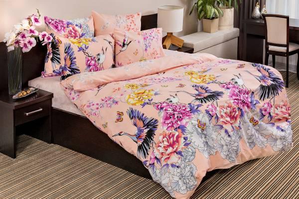 Комплект постельного белья Ночь нежна Zhuravli Цвет: Розовый (2 сп. евро)