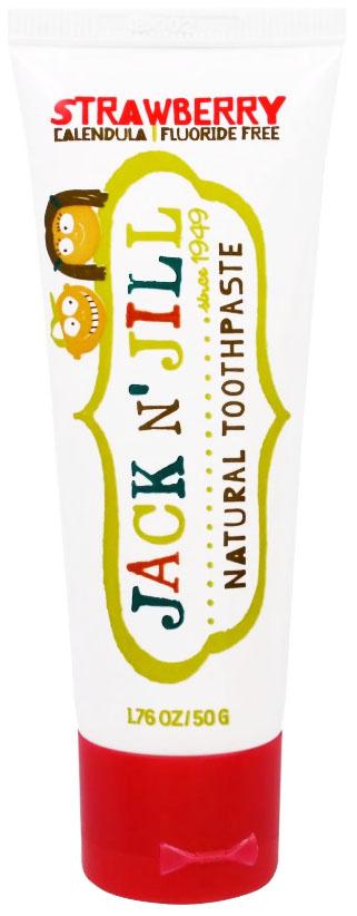 Jack n' jill зубная паста для детей органическая клубника 50 г, Детские зубные пасты  - купить со скидкой