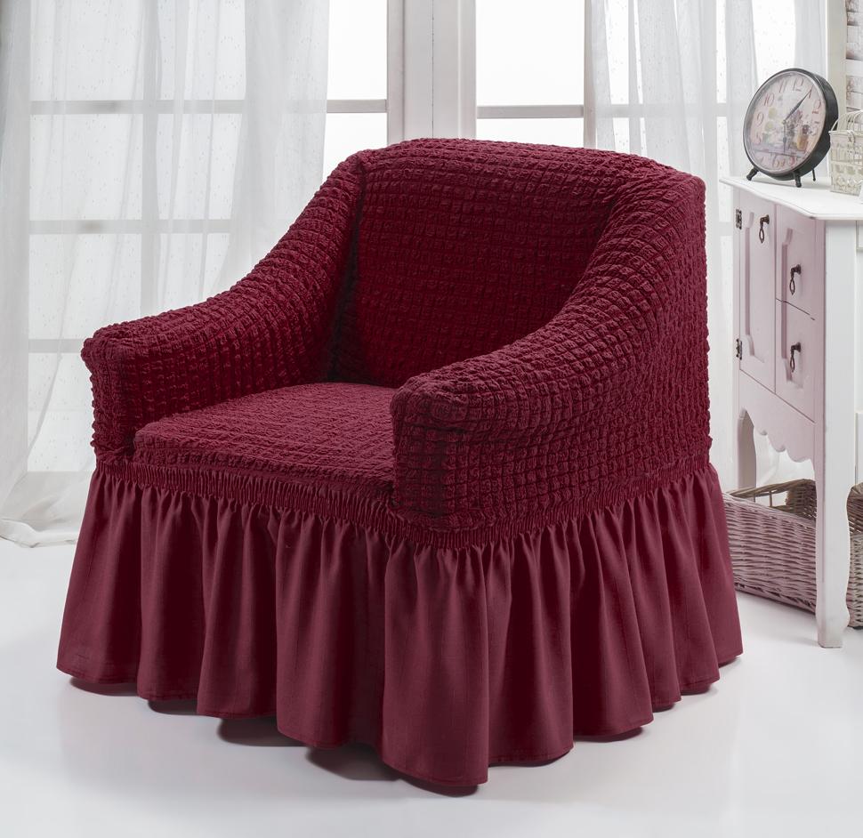 Чехол на кресло Bulsan бордовый