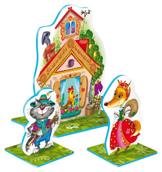 Десятое королевство Театр кукольный на столе кот петух и лиса Десятое Королевство 1362 фото