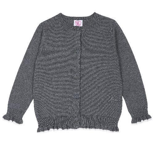 Купить 9096995, Кардиган Chicco для девочек р.92 цв.темно-серый, Кофточки, футболки для новорожденных