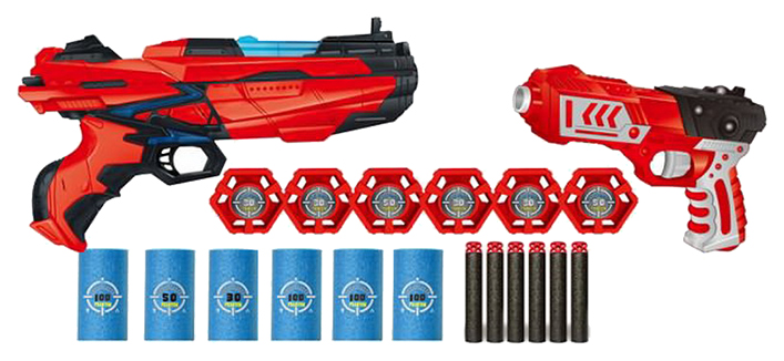 Купить Бластер Junfa toys с мягкими снарядами 40 штук, Наборы игрушечного оружия