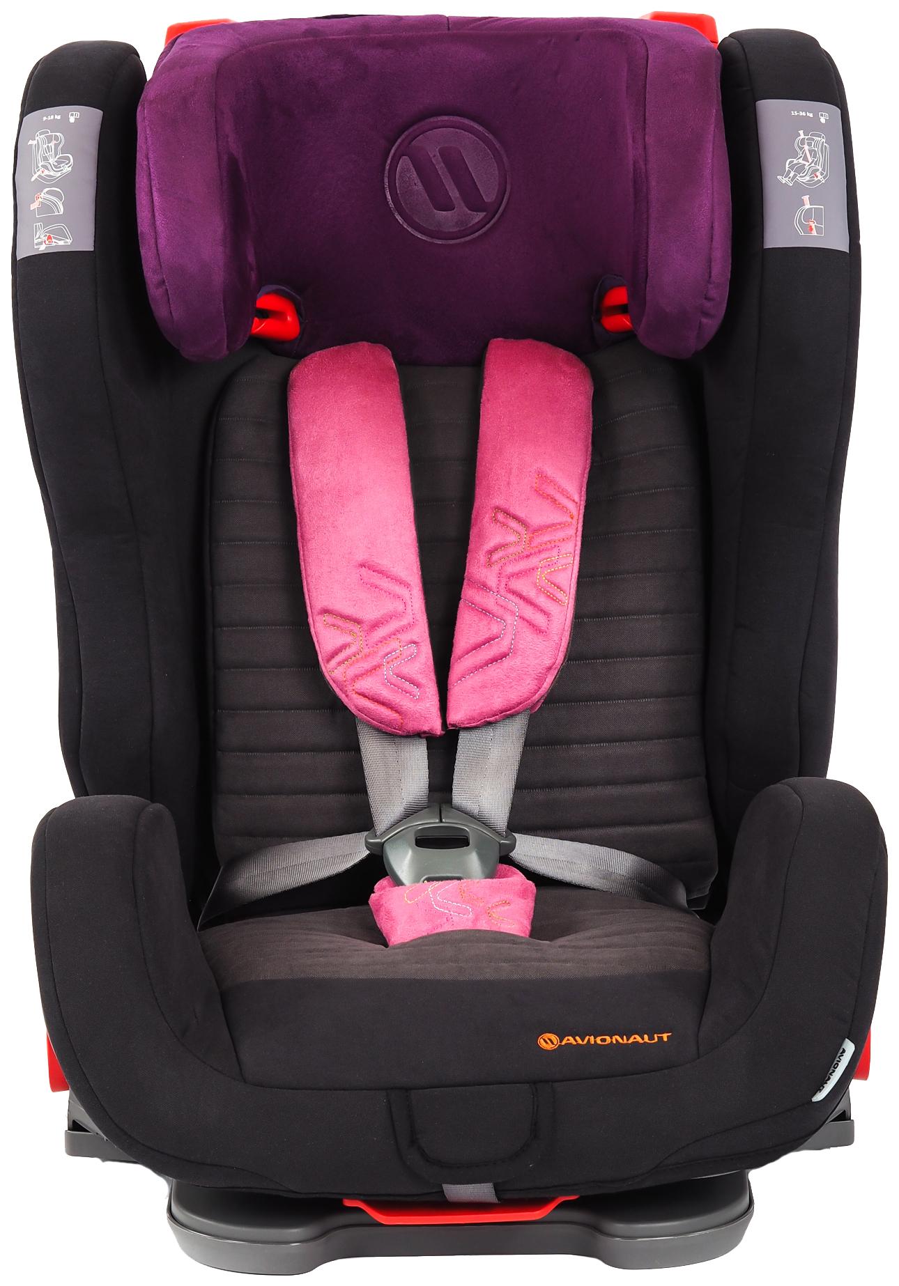 Автокресло AVIONAUT 9-36 кг EVOLVAIR SOFTY Черный/Фиолетовый