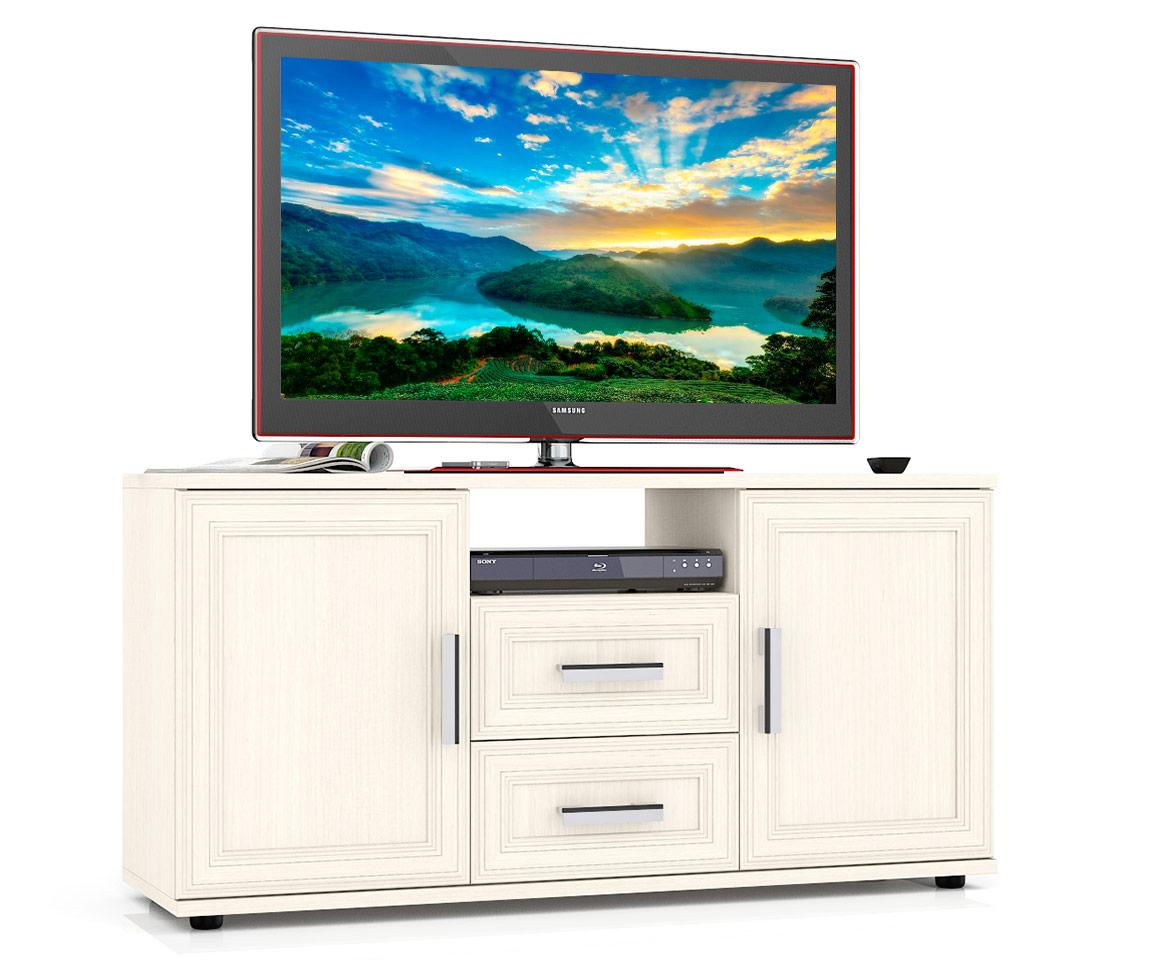 Тумба под телевизор приставная Мебельный Двор Бонус 120х36х60 см, дуб