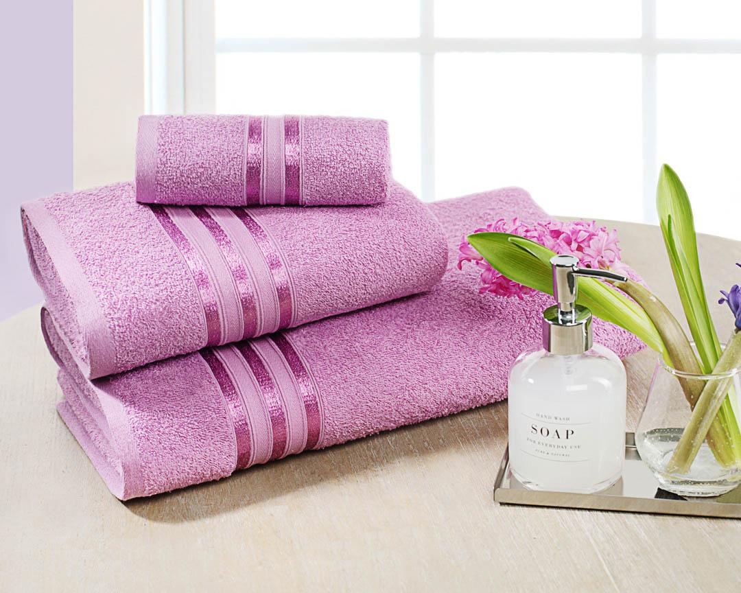 Банное полотенце Dome Harmonika розовый 70х130 см (1 шт.) фото