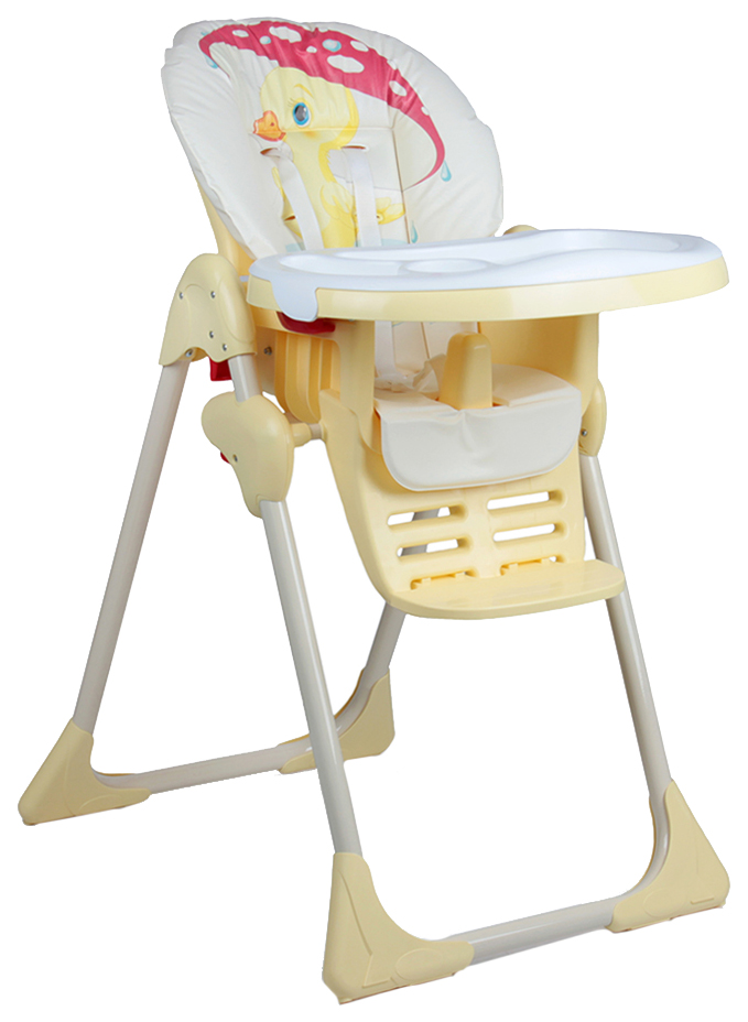 Стул-стол для кормления Globex Космик Люкс регулируемый, желтый