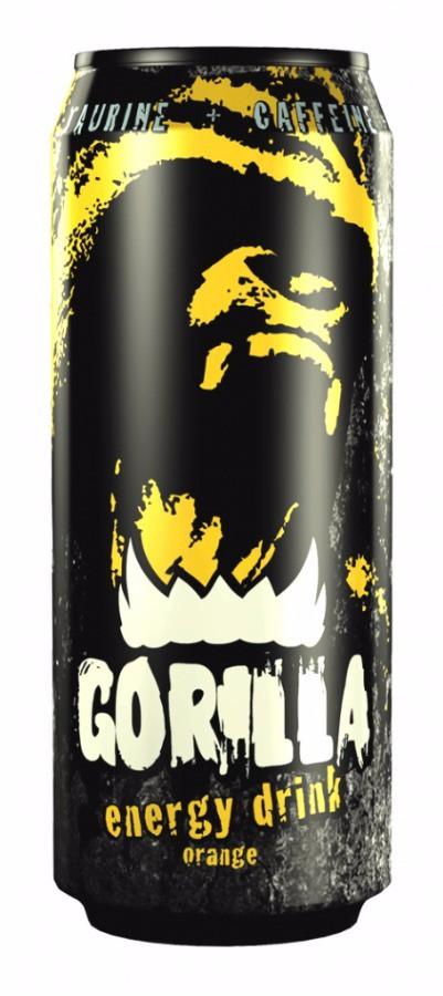 Напиток Gorilla Апельсин энергетический 400мл.