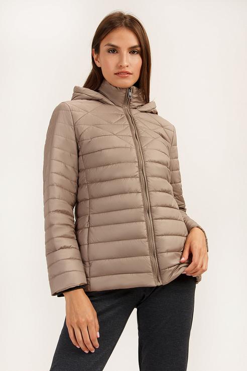 Куртка женская Finn Flare A19-12017 коричневая S фото