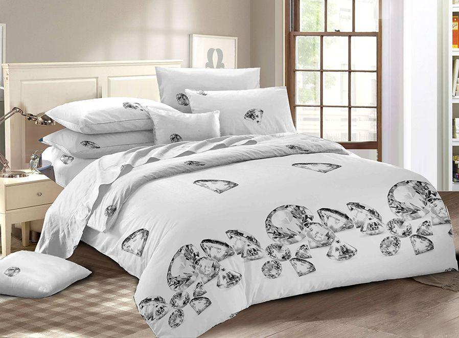 Комплект постельного белья Amore Mio Мако-сатин Adamant полутораспальный, 12010