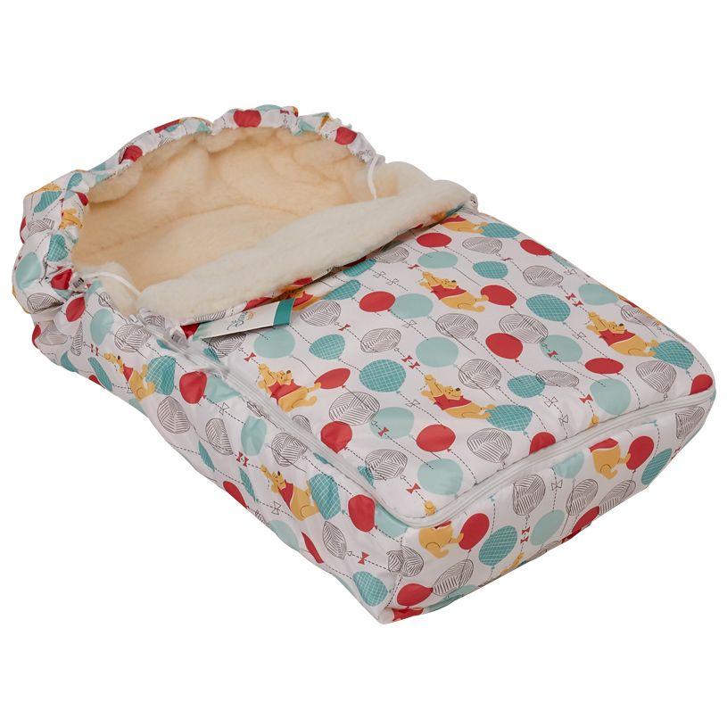 Купить Конверт зимний меховой Polini kids Disney baby Медвежонок Винни Чудесный день, Конверты для новорожденных