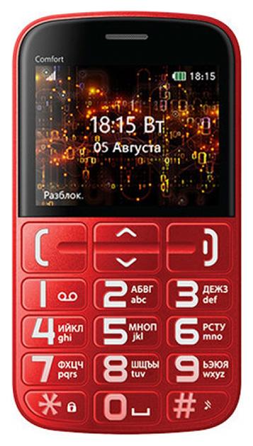 Мобильный телефон BQ BQM-2441 Comfort Красный  - купить со скидкой