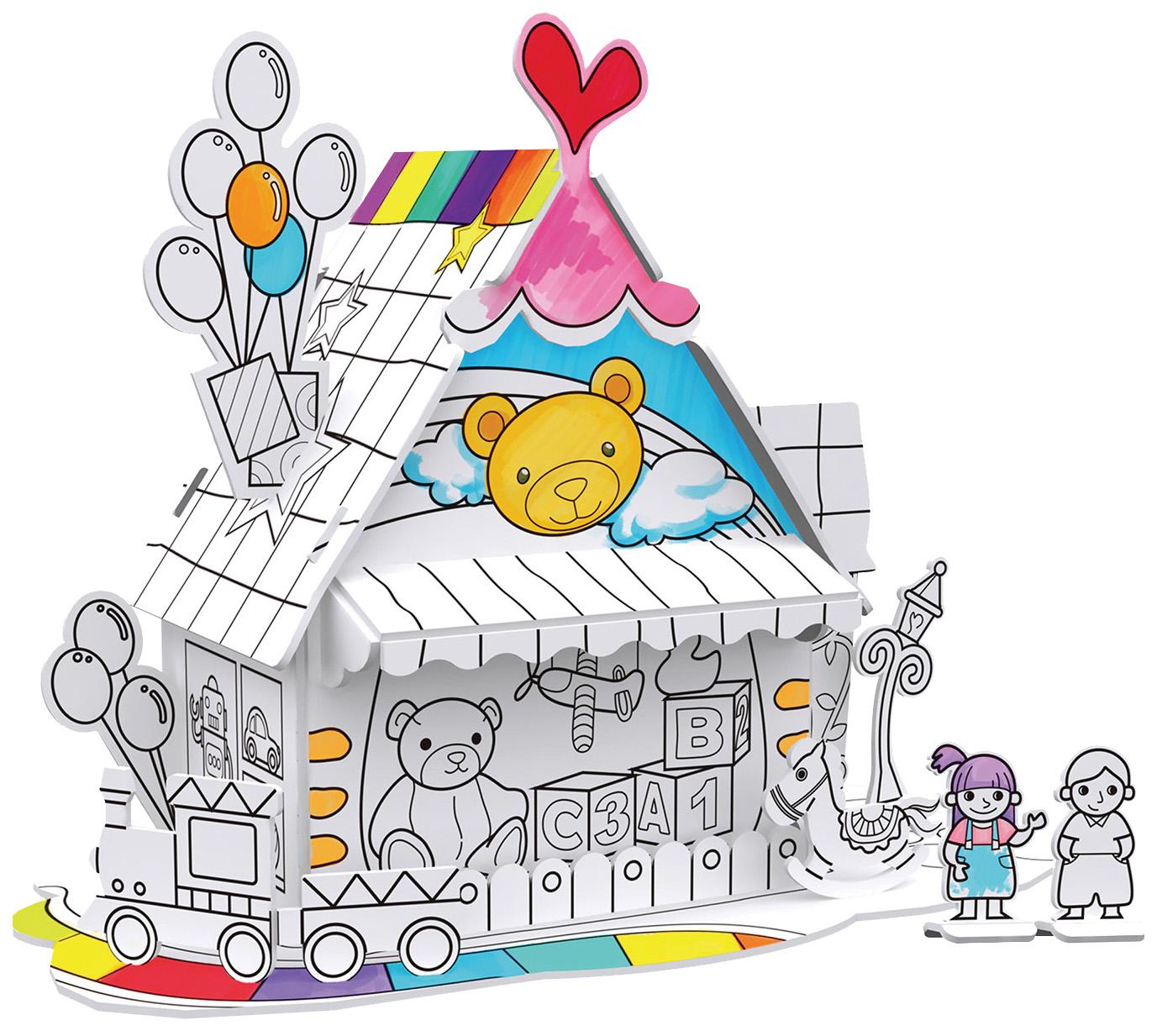 Пазл Cubic Fun Игрушечный домик P693h фото