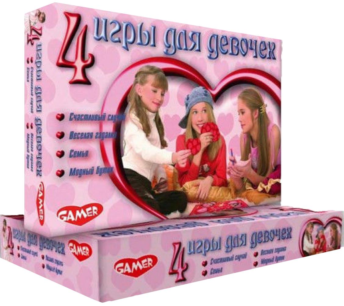 Купить Семейная настольная игра Dream makers 4 игры для девочек 1163Н, Семейные настольные игры