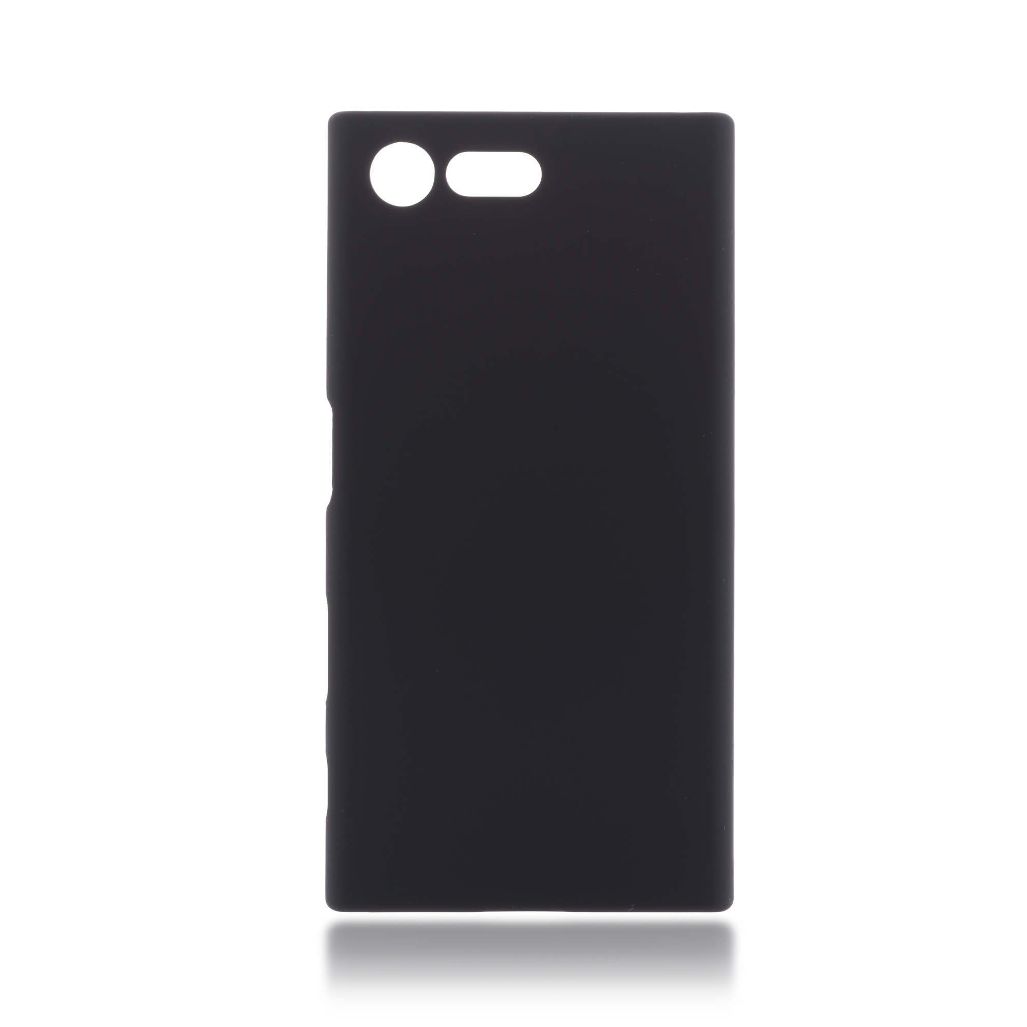Пластиковая накладка Brosco Soft-touch для Sony Xperia X Compact, черная