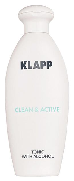 Купить Тоник для лица Klapp Clean & Active Со спиртом 250 мл