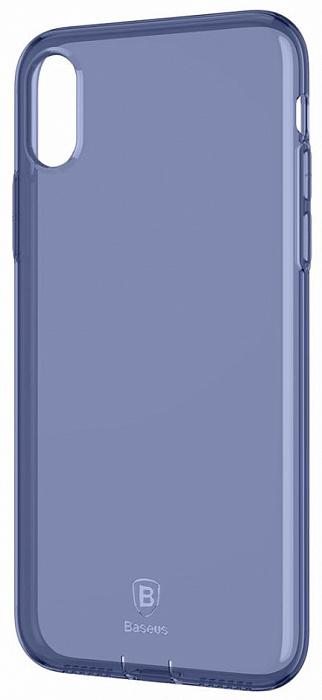 Чехол Baseus Simple Series Case Pluggy (ARAPIPHX-A03) для Apple iPhone X(Transparent Blue)