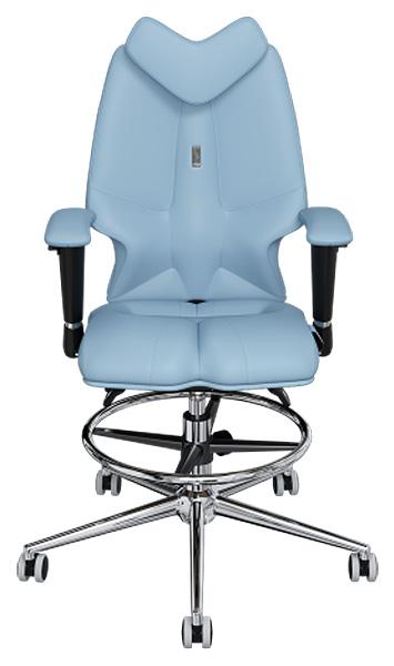 Детское кресло Kulik System Fly, экокожа, Светло-синий