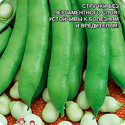 Семена Бобы Сахарные Уста, 6 шт, Уральский дачник