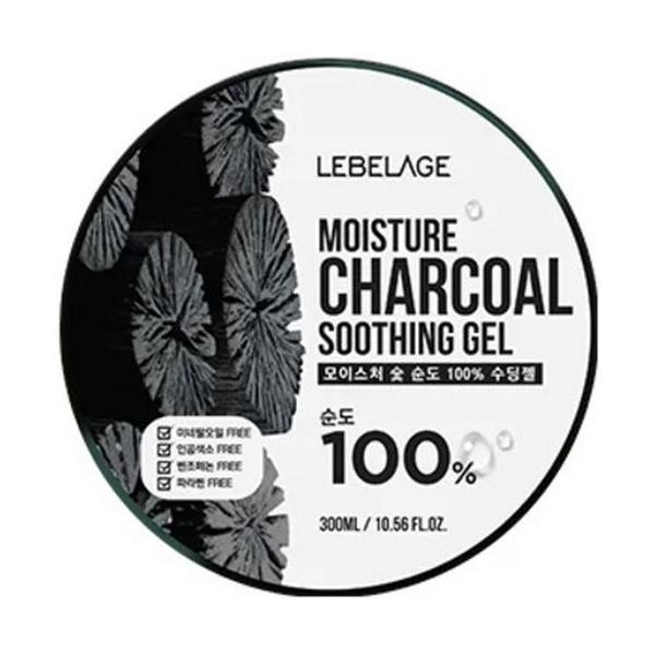 Гель для лица Lebelage Moisture Charcoal Soothing Gel 300 мл фото