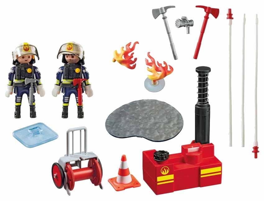 Купить Игровой набор Playmobil Пожарная служба: Пожарные с водяным насосом, Игровые наборы