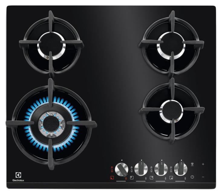 Встраиваемая варочная панель газовая Electrolux GPE363LK Black фото
