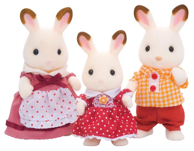 Игровой набор Sylvanian Families Семья Шоколадных кроликов (3 фигурки) фото