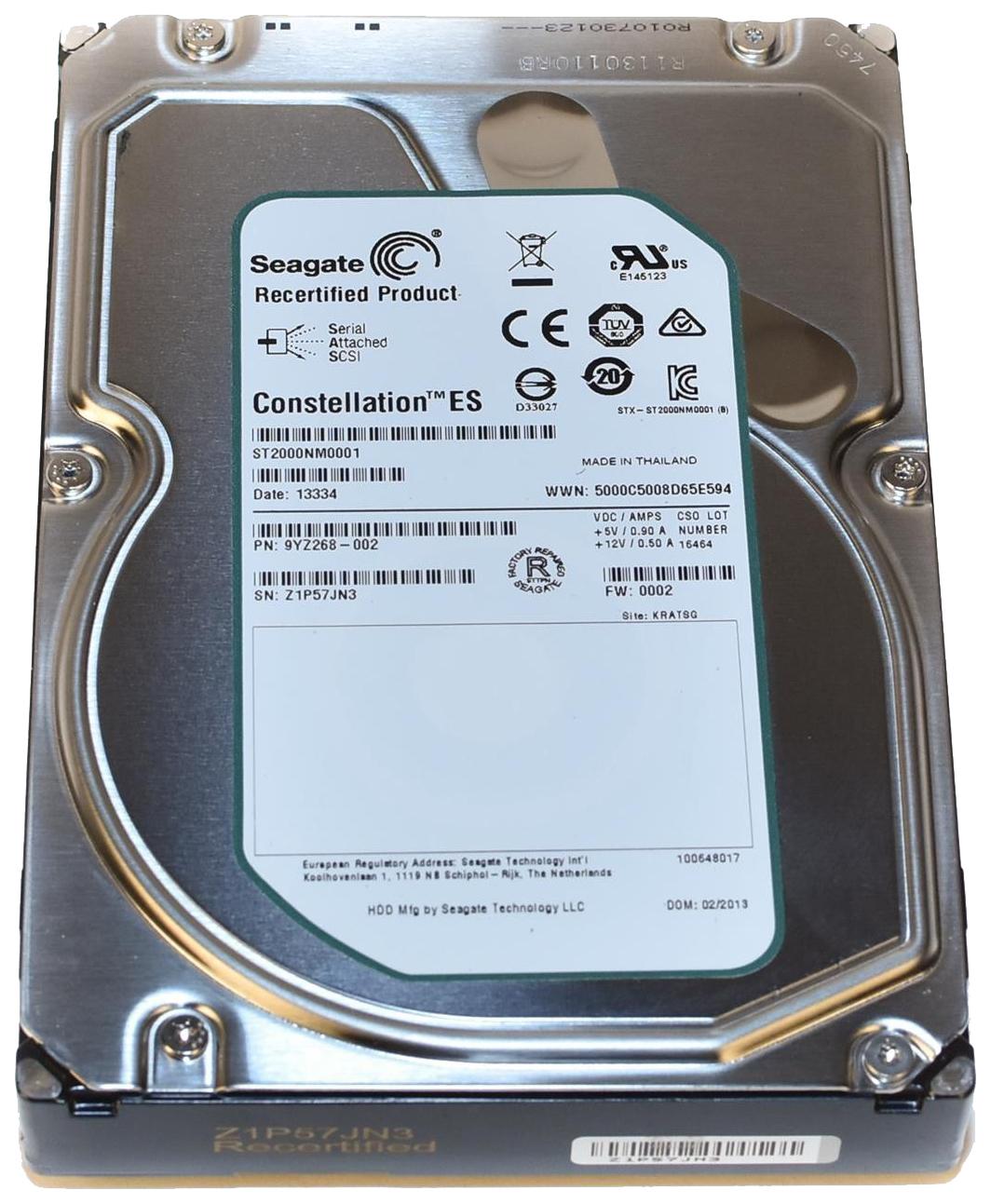 Внутренний жесткий диск Seagate Enterprise Capacity 2TB (ST2000NM0001)