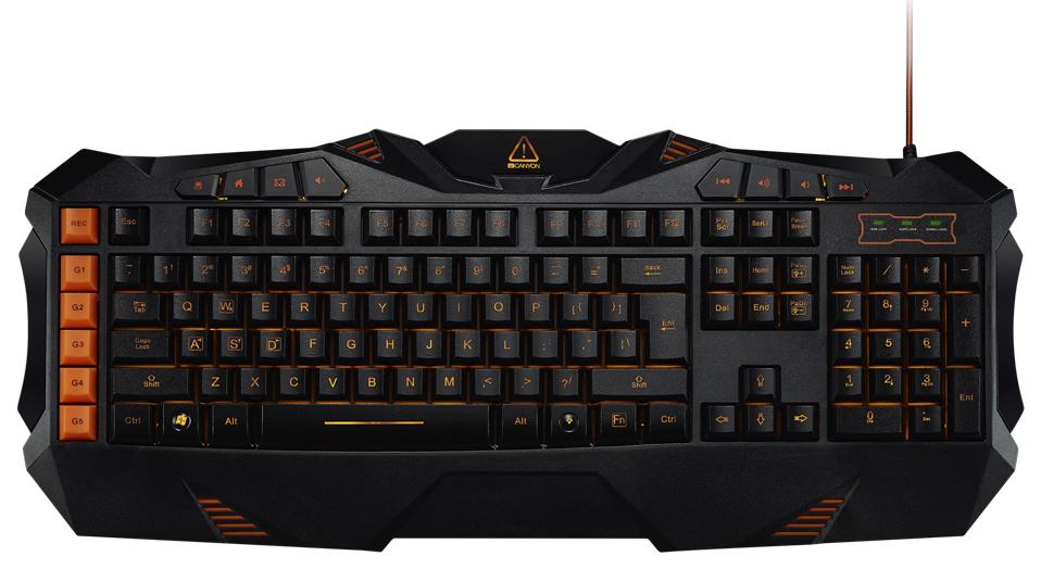 Клавиатура Canyon Fobos CND SKB3 RU Black