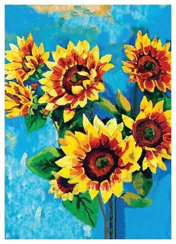 Поделка Color Kit Картина из пайеток Подсолнухи CME013