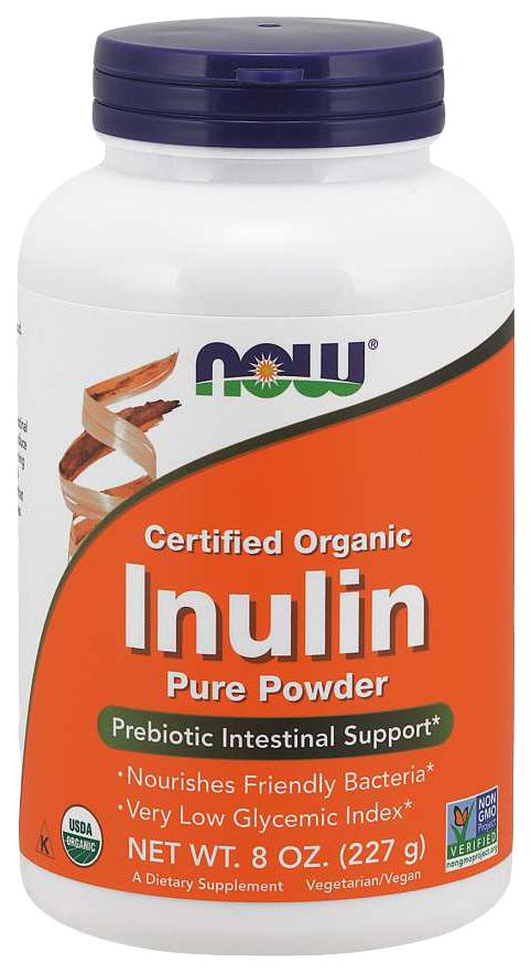 Купить Для пищеварения NOW Inulin Pure Powder 227 мл