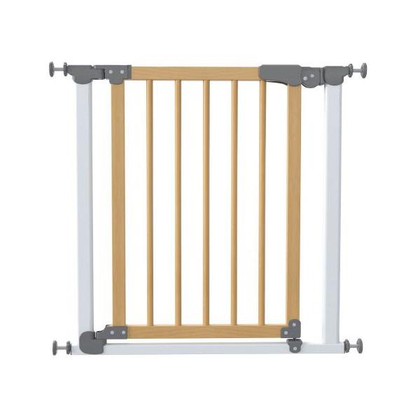 Safe&care ворота на распорках сосна белый/т.серый 77-83.5см