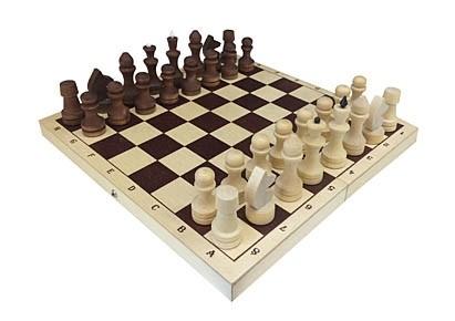 Шахматы с доской Рыжий кот обиходные, парафинированные