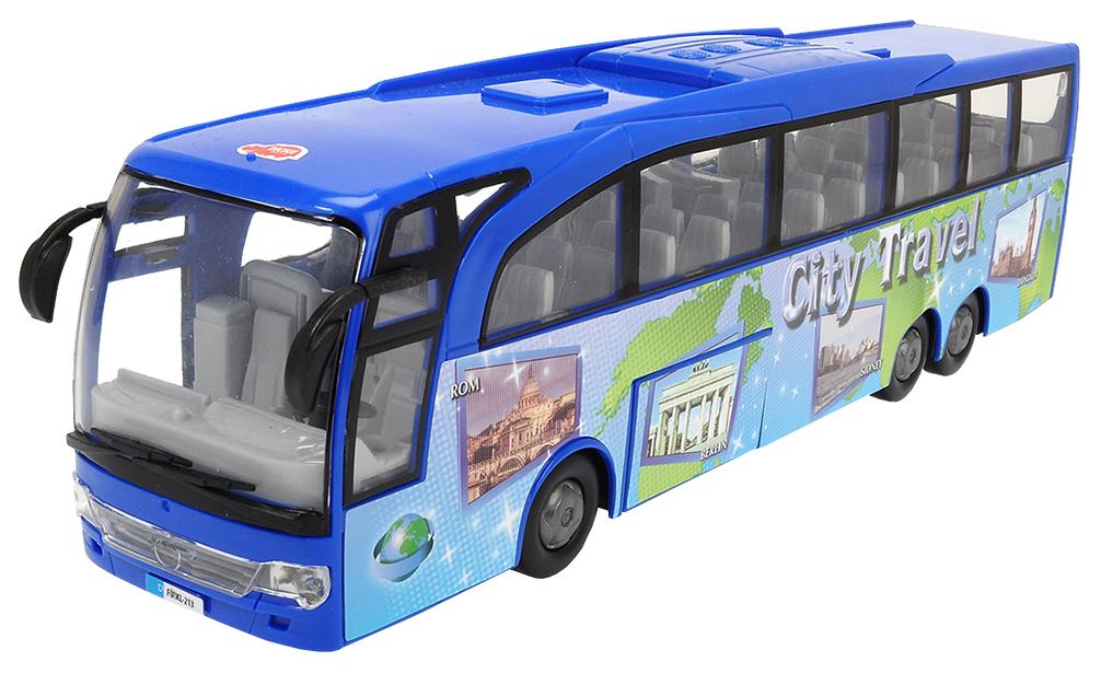 Купить Dickie toys Туристический автобус Dickie синий 3745005, Городской транспорт