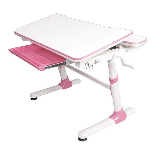 Детская Парта трансформер Mealux Duke белый, розовый,