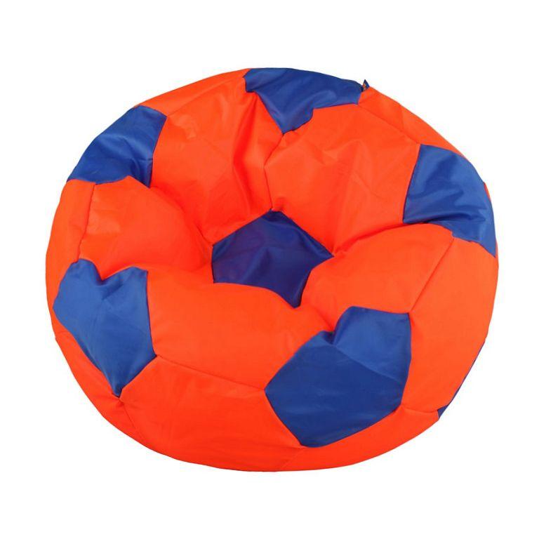 Кресло-мяч Pazitif Мяч Пазитифчик, размер XL, экокожа, оранжево-синий фото