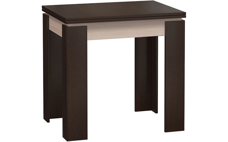 Кухонный стол Divan.ru 78х80х60 см, белый/коричневый