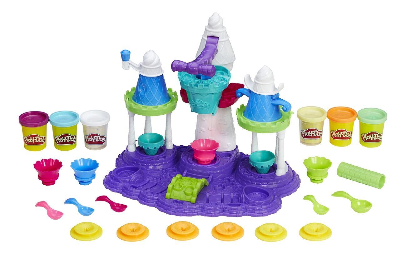 Купить Замок мороженого, Набор для лепки из пластилина play-doh замок мороженого b5523, Лепка