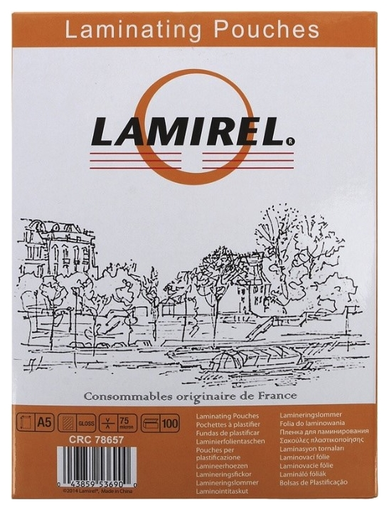 Пленка для ламинирования Fellowes Lamirel LA-7865701/CRC-78657 А5 75мкм 100 шт. фото