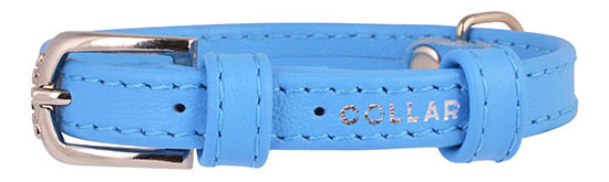 Ошейник COLLAR GLAMOUR без украшений, 9мм, 19-25см, синий