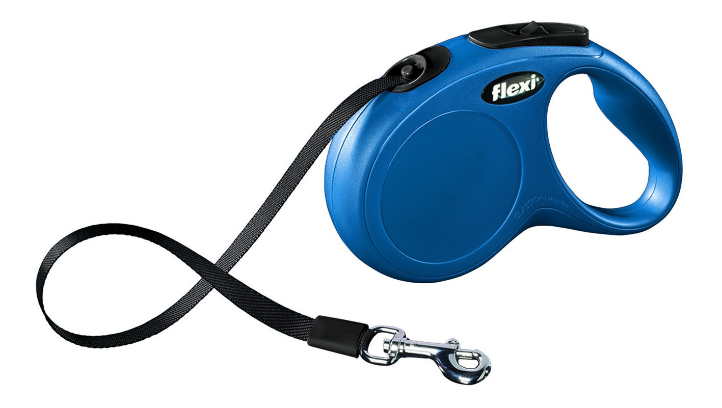 Поводок-рулетка flexi New Classic Mini ,до 12 кг, лента 3 м, синяя