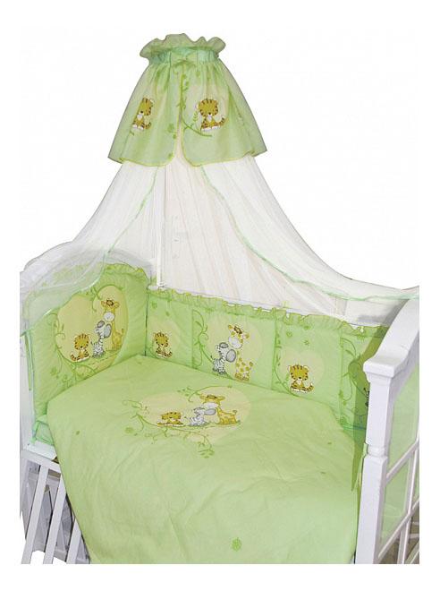 Купить Комплект в кроватку Золотой гусь Сафари 7 предметов зеленый, Золотой Гусь, Комплекты детского постельного белья