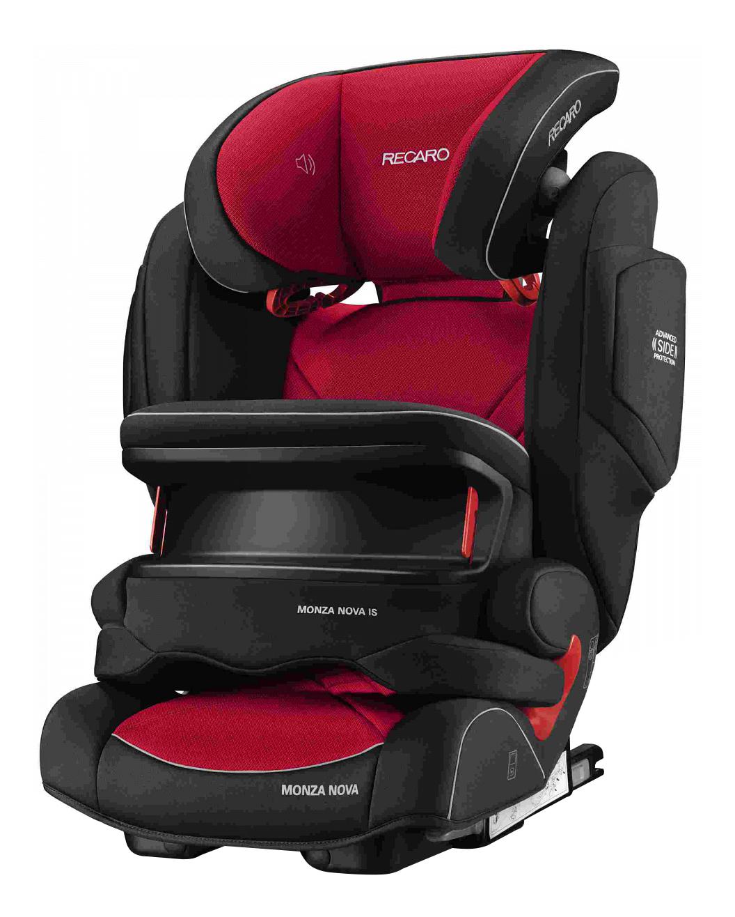 Купить Автокресло RECARO Monza Nova IS Seatfix Racing группа 1/2/3, Черный-Красный, Детские автокресла