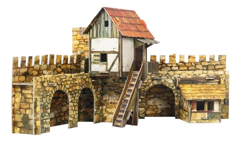 Модель для сборки Умная бумага Средневековый город: Городская площадь. Актеры фото
