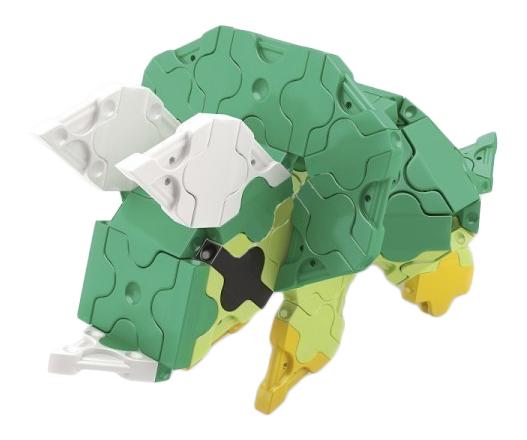 Конструктор пластиковый LaQ Mini Triceratops.