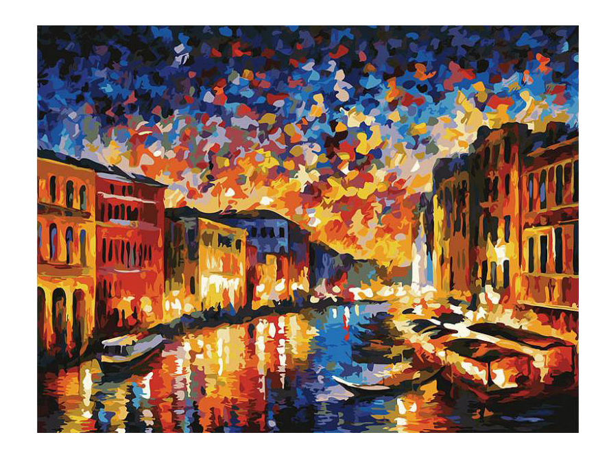 Раскраска по номерам Белоснежка Гранд-Канал Венеция